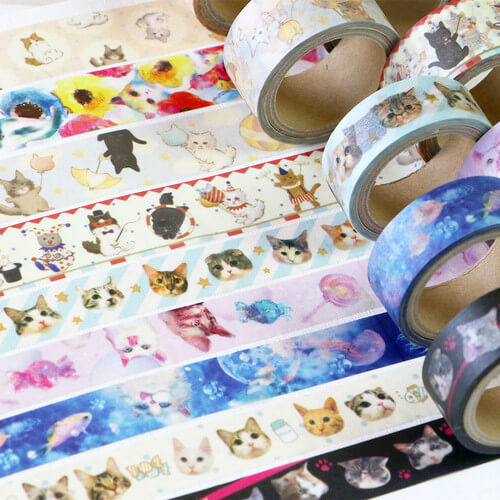 TOKOTOKO CIRCUS Cat Kawaii Cute Washi Tape