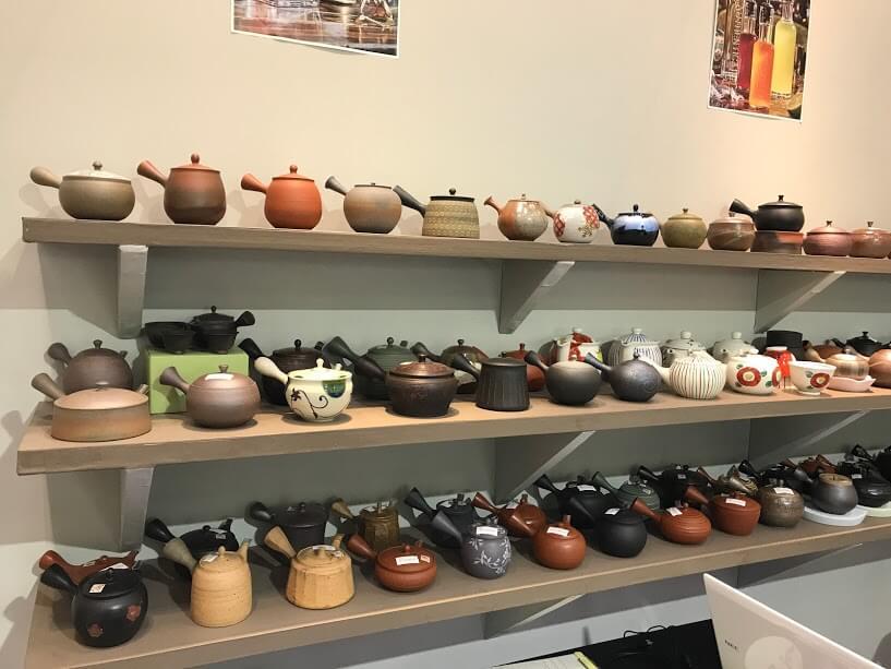 Japanese tea pot, yamakiikai tokoname ware